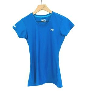 Under Armour Blue HeatGear Fitted Tee
